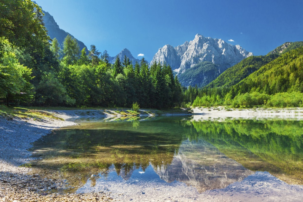 Valley in Traglav National Park - Slovenia