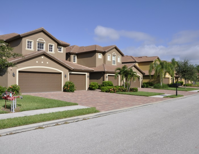 Typical homes in Naples, Florida