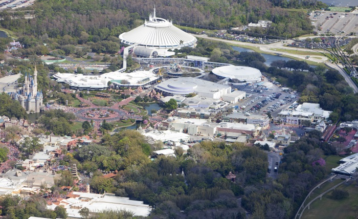 Aerial view of Disney World
