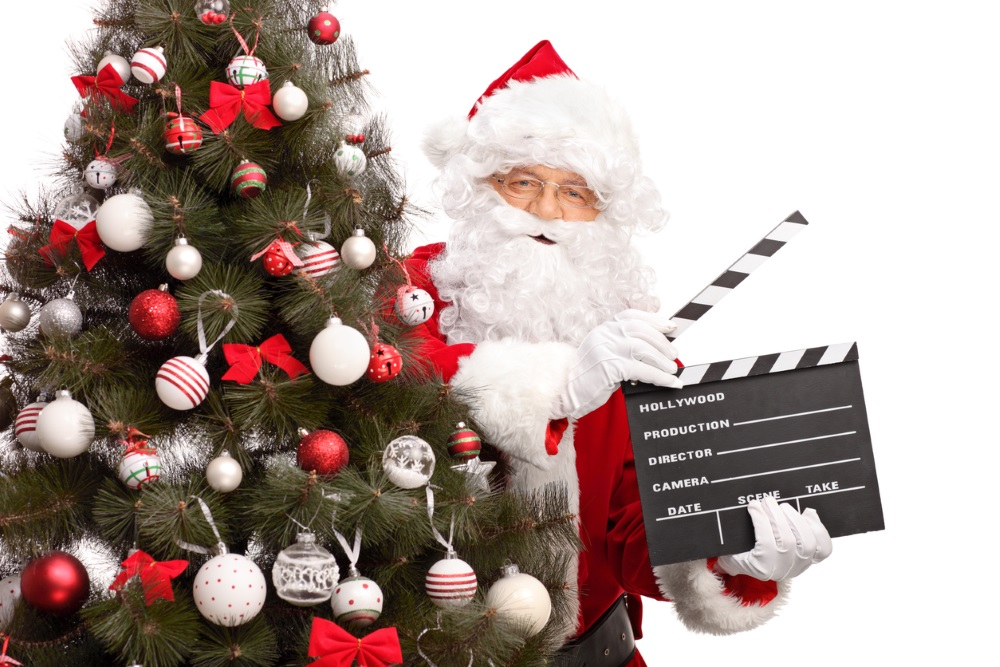 Santa with movie snapper