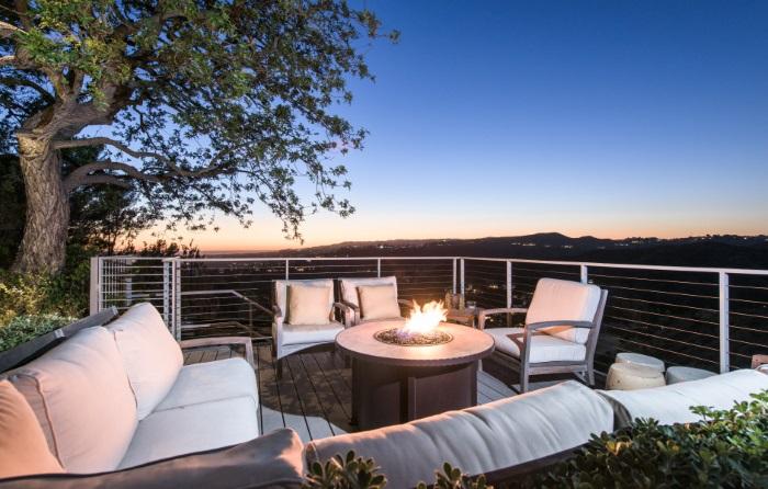 Jane Fonda Mansion terrace overlooking LA