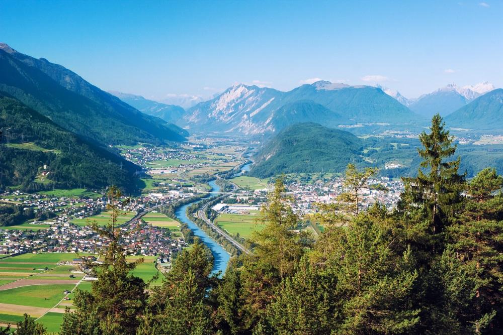 View of cities near Tyrol