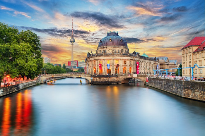 Museum on river spree, Berlin, Germany