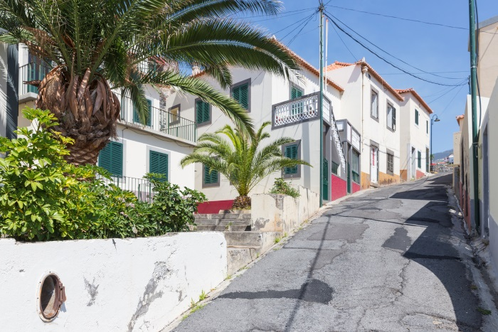 Portuguese street in Madeira
