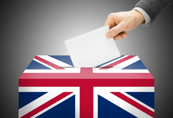 Ballot box, UK election