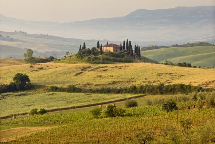 Italian property in field